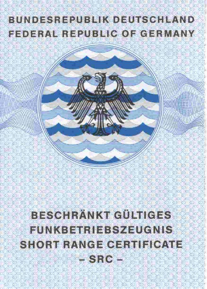 Beschränkt gültiges Funkbetriebszeugnis short range certificate